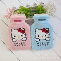 日本Sanrio Hello Kitty凯蒂猫 粉l蓝色500毫升冲水热水袋|含内胆