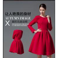速卖通ebay爆款 2014秋季欧美新款长袖蓬蓬裙连衣裙 女装
