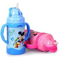 正品迪士尼保温杯 不锈钢保温杯儿童水杯300ML米奇水壶HM1924