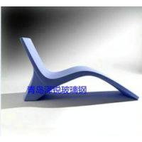 青岛玻璃钢沙滩椅,FRP树脂户外休闲椅