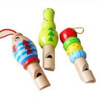 儿童吹奏玩具 木制卡通动物口哨 大号哨子 音乐玩具 手机背包挂饰