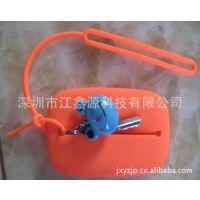 厂家生产硅胶钱包 热卖迷你钥匙包 糖果色环保耐用