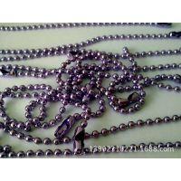 厂家直销优质环保金属珠链,吊牌珠链,公仔金色吊珠链