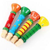 宝宝小喇叭乐器 儿童吹奏乐器音乐木制口哨幼儿早教智力智玩具