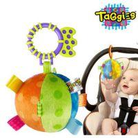 美国外贸 婴儿益智手抓布球车床挂玩具 毛绒铃铛球/新生儿