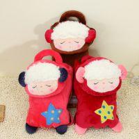 2014新款冬季暖手宝 可爱小羊卡通可拆洗双插手毛绒充电热水袋