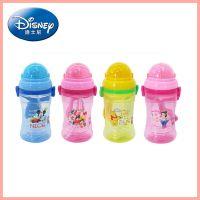 迪士尼 儿童防漏软嘴水杯 米奇背带吸管水杯 5803