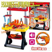 过家家玩具 儿童仿真工具套装 拆装赛车维修工具台配电动钻