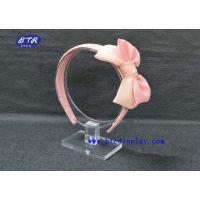 供应深圳厂家订做亚克力透明发箍展示架/有机玻璃头围展示座