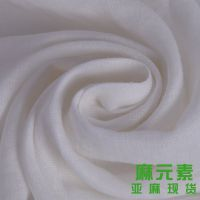 【企业集采】例外亚麻面料现货供应 白色衬衫 连衣裙布料