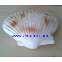 青岛海洋生物扇贝半圆雕挂件