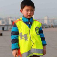 优质儿童安全背心 小学生反光马甲 莹光反光衣交通安全服装 批发
