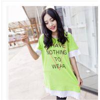 韩国时尚新款大码孕妇装 夏季韩版大码胖MM女装全棉百搭孕妇T恤