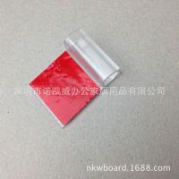 厂家供应透明自粘笔夹 白板笔配件带EVA塑胶白色笔夹
