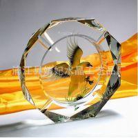 【如图】水晶时尚经典 家居用品 办公礼品 K9带内雕水晶烟缸