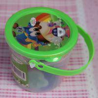 儿童益智彩泥,圆盒塑料盒环保彩泥,12色彩泥橡皮泥
