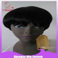 义乌假发厂 短直发黑色非洲市场畅销款 可爱型假发