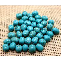 绿松石散批发 优质湖北绿松石不定型长珠 专业DIY饰品配件