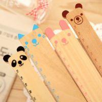 华丰 创意文具 超萌可爱动物木制尺子 熊猫造型直尺木质尺 批发