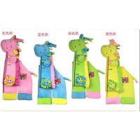 Happy monkey长颈鹿身高尺 带摇铃BB器 益智玩具4个颜色选