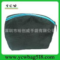 供应广东深圳 龙岗生产 订做 色丁化妆袋 手抓化妆包 可加印