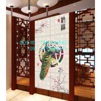 佛山艺术彩雕电视瓷砖背景墙制作设备 UV3D浮雕背景墙万能打印机