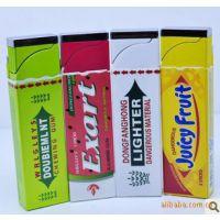 批发绿箭口香糖打火机|创意防风气体打火机|烟具厂家