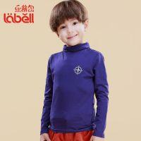 童装批发男童秋季高领长袖T恤打底衫中大童品牌童装乐背尔厂家