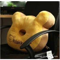 日本San-x轻松小熊轻松小熊甜甜圈大抱枕加厚坐垫午睡枕靠垫多用