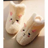 冬 新款原单 小兔子棉拖鞋 卡通地板拖高帮 室内家居鞋保暖鞋