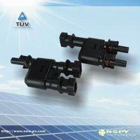 厂家直销 太阳能发电系统专用三通连接器,TUV认证转接头 2转1插头