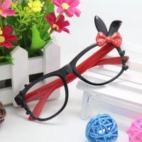 新款兔子儿童眼镜框架时尚眼镜框小孩眼镜爸爸去哪儿同款w001A