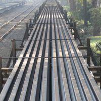 北京新到QU80钢轨 80kg钢轨,qu80kg钢轨斜切头价格,含压轨器夹板