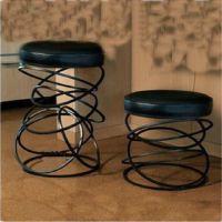 铁艺化妆凳换鞋凳床尾凳子沙发椅子矮凳休闲吧圆凳带坐垫成人