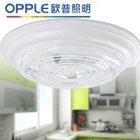 欧普照明 吸顶灯具明装厨卫灯防潮防雾MX806-Y38白圆透明