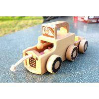 出口日本原单正品 儿童木制发音小车 木质敲琴车 榉木高档玩具