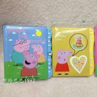 佩佩猪粉红猪小妹三色可爱密码本笔记本锁密码书本儿童学期文具