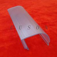 提供PC透明U型条纹灯罩 透明挤塑产品 灯罩产品 PC塑料灯罩