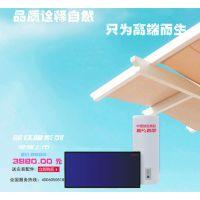 供应阳光四季阳台壁挂式平板太阳能热水器自然循环型 蓝膜平板集热器100L