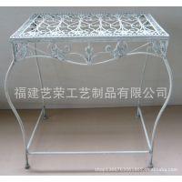 欧式复古铁艺桌子 方形休闲茶几 休闲餐桌置物架客厅阳台摆设做旧