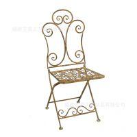 复古铁艺桌椅 欧式酒吧休闲靠背椅时尚咖啡店椅户外庭院阳台椅子