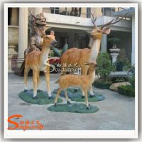 厂家供应仿真动物雕塑 小鹿工艺品摆设