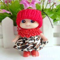 8厘米韩国全新豹纹裙子迷糊娃娃 淘宝赠品创意小礼品 搪胶玩具