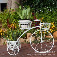 铁艺花架子 田园阳台车型植物架 室内户外自行车花盆架 厂家直销