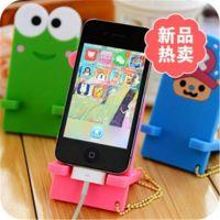 8224 韩国时尚 超人气橡胶手机座 可爱卡通乖乖手机支架 托架