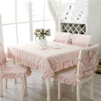 田园餐桌布茶几布椅垫 纯棉碎花桌布布艺 桌椅套 圆桌 台布套装