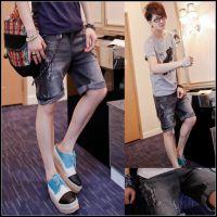 2013夏新款JK24韩版修身 破洞牛仔裤 牛仔短裤 男短裤 低腰裤子