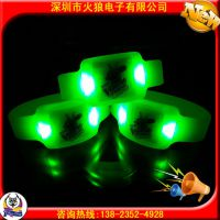 演唱会闪光用品发光手环 硅胶震动发光手环 东莞发光手环批发厂家