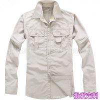 厂家批发订做户外休闲男款速干衣可拆卸男式防晒防紫外线速干衬衫