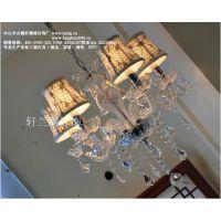 供应XLG现代简约水晶灯大气简欧客厅吊灯创意餐厅卧室灯具灯饰